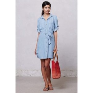 Anthropologie Cloth & Stone chambray dress - sz M